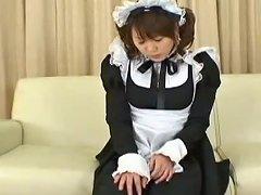 Cute Maid Mizuki Hana Masturbating Instead Of Working