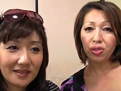 Threesome With Two Horny Japanese Milfs