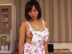 Scrumptious Aiko Sunakawa Masturbates With A Big Toy